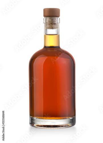 whiskey bottle on white Fototapete