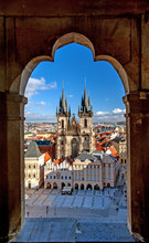 Stare Mesto (Old Town), Prague, Czech Republic, Aerial View.