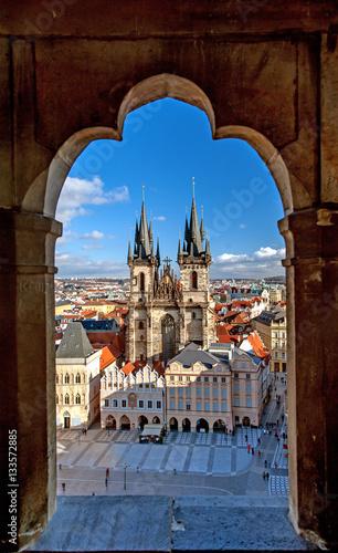 Obrazy Praga  stare-mesto-stare-miasto-praga-czechy-widok-z-lotu-ptaka