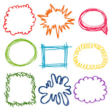 Vector Colorful Chalky Set Of ...