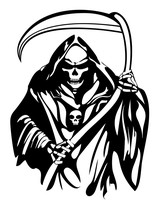 Grim Reaper Vector Tattoo