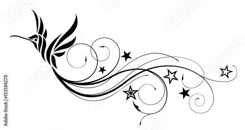 Fotografie, Obraz Kolibri Vector tattoo
