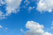 cloudy sky and blue clear sky clouds background