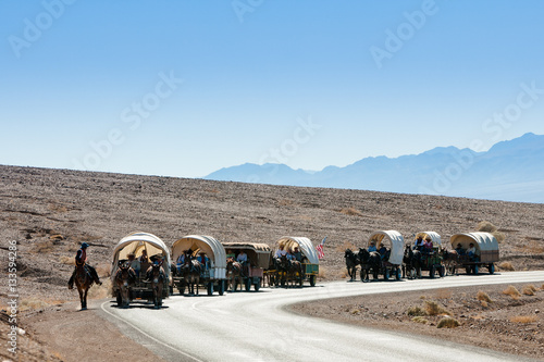 Death Valley 49ers Wagon Train, CA Canvas Print