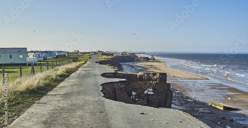 Fototapeta  Coastal erosion of the cliffs at Skipsea, Yorkshire