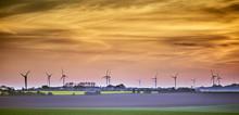 Wind Turbines On Farmland, Yorkshire UK