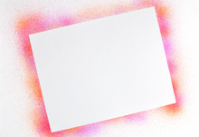 Airbrushed Abstract Background/frame In Hot Pink And Orange