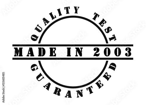 Papel de parede Made in 2003