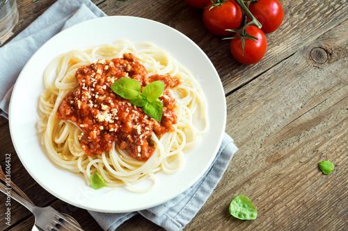 Fotografía  Spaghetti bolognese pasta