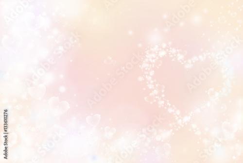 Fotografie, Obraz  ハートのイルミネーション ハートミックスカラー オレンジ系