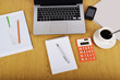 Mock up objects such as computer, calculator and smartphone