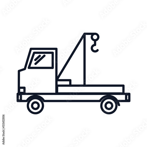 Tow Truck Icon Illustration Isolated Vector Sign Symbol Buy This