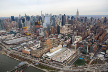 Aerial View Of Midtown New York
