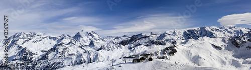 Valokuva  Panorama of French Alps, France.