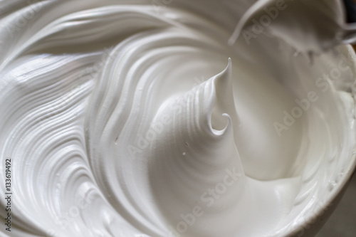 Whipped egg white Canvas Print