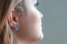 Earring On Model's Ear