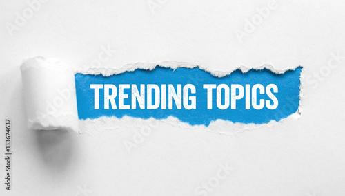 Fotografie, Obraz  Trending Topics