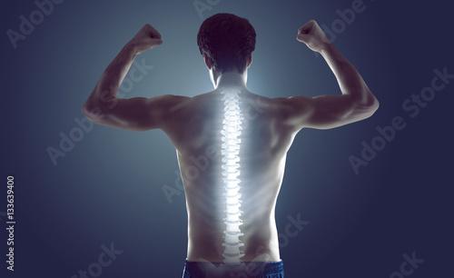 Starker Rücken Fotobehang
