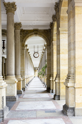 Fototapety, obrazy: Colonnade , Karlovy Vary (Carlsbad), Czech Republic..