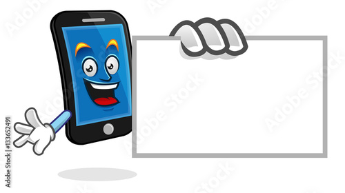 Blank Business Card Smartphone Character Vector Of Cellphone Mascot Mobile Phone Cartoon Buy This Stock Vector And Explore Similar Vectors At Adobe Stock Adobe Stock