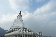 Five Buddha Statue On Wat Phasornkaew Temple, Thailand, Phetchabun, Khao Kho