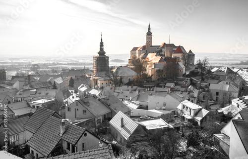 Mikulov castle, South Moravia, wine region, Czech Republic Poster