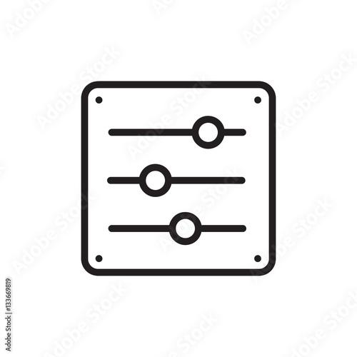 Fotografia Adjustment Icon Illustration Isolated Vector Sign Symbol