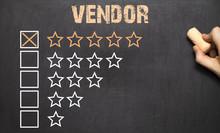 Best Vendor Five Golden Stars.Chalkboard