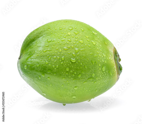 water drop green coconut