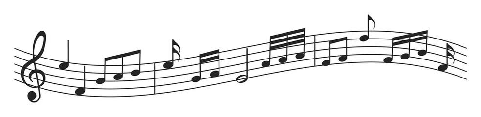 Naklejka Musik, Musiknoten, Melodie