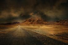 Montagne Désert Vierge Route ...