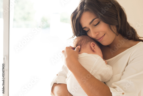 Fotografie, Obraz  Woman with newborn baby