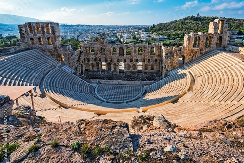 Door stickers Theater Ancient Theatre at the Acropolis in Athens Greece