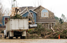 Tree Removal At A Tornado Dama...