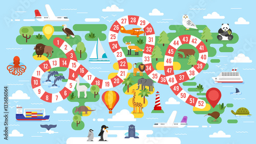 Obraz na płótnie światowa gra planszowa dla dzieci