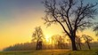 Zeitraffer Video: idyllische Landschaft im bunten Verlauf eines Tages