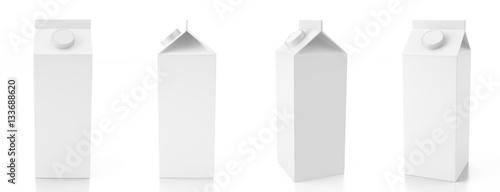 Blank carton liquid containe Fototapeta