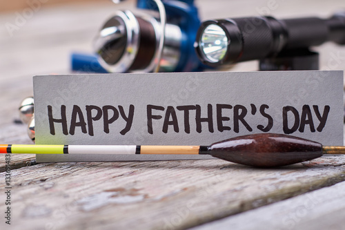 Fotografie, Obraz  Bobber and Father's Day card