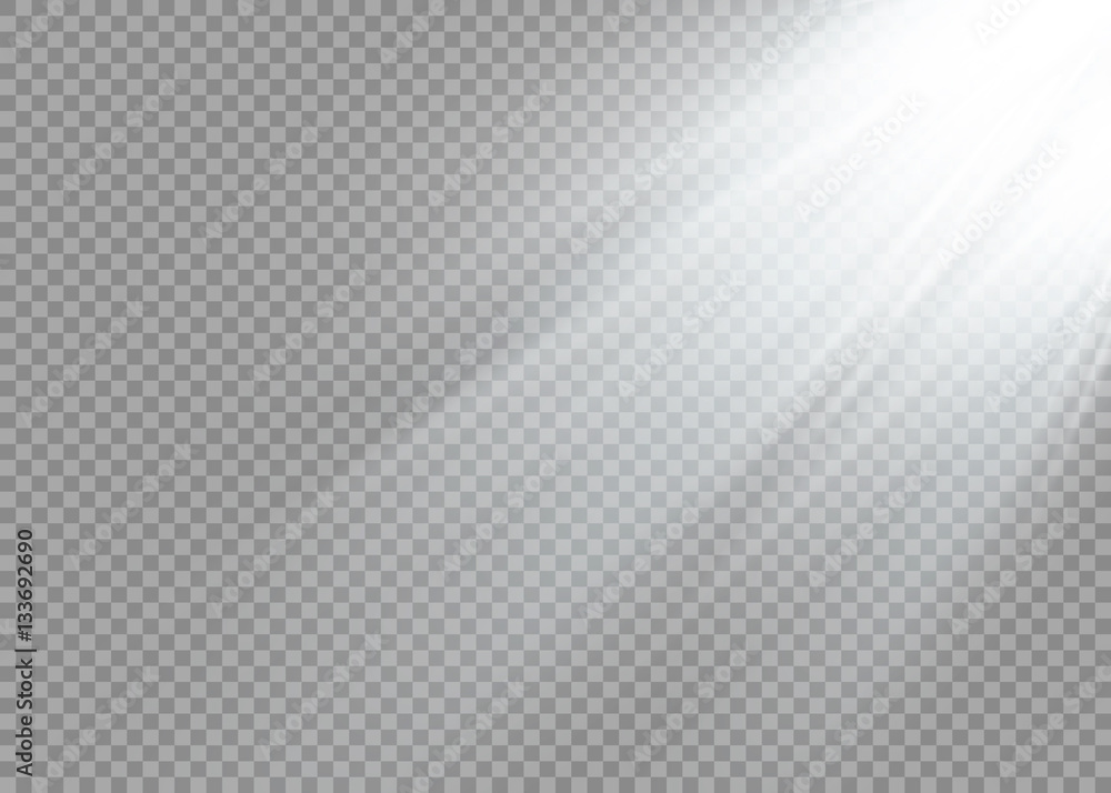 Fototapety, obrazy: Vector spotlight. Light effect