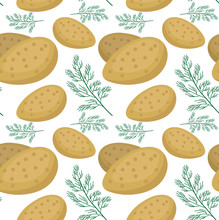 Potatoes Seamless Pattern. Pra...