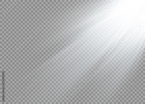 Fototapeta Vector spotlight. Light effect