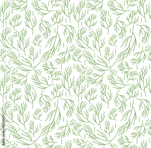 Canvas Print Herbs seamless pattern