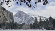 Half Dome In Winter
