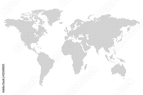 World Map Dot Pattern Illustration
