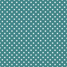 Teal Color #Seamless Vector Polka Dot Pattern