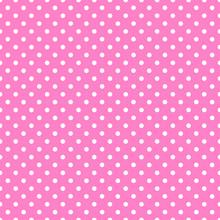 Pink #Seamless Vector Polka Dot Pattern
