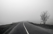 Foggy Country Road. Fog Create...