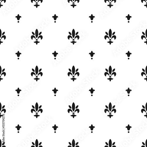 Fleur Illustration fleur de lis pattern, silhouette - heraldic symbol. vector