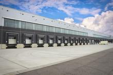 Dock Cargo Doors At Big Wareho...