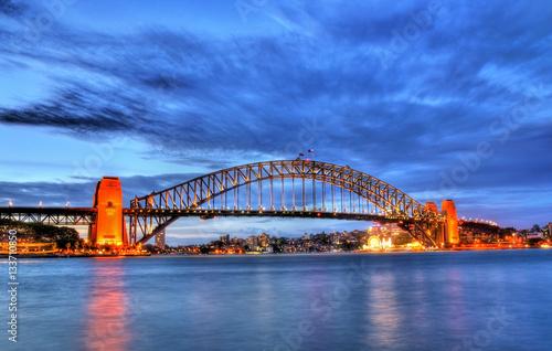 Sydney Harbour Bridge at sunset © Leonid Andronov